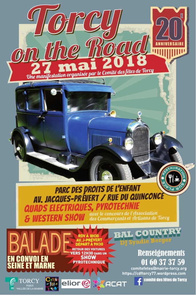 Affiche Torcy on the Road 2018